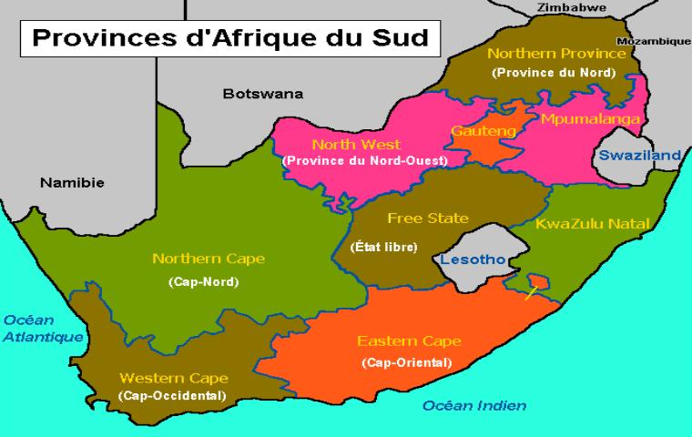 Carte Dafrique Du Sud.Carte D Afrique Du Sud